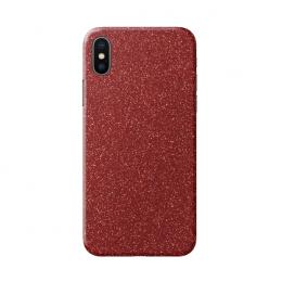 3mk Ferya ochranná fólie na záda pro Apple iPhone X třpytivá červená