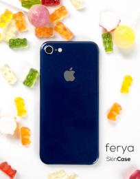 3mk Ferya ochranná fólie na záda pro Apple iPhone 7 lesklá tmavě modrá
