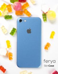 3mk Ferya ochranná fólie na záda pro Apple iPhone 7 matná ledově modrá