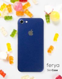 3mk Ferya ochranná fólie na záda pro Apple iPhone 7 matná půlnoční modrá