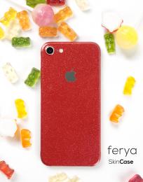 3mk Ferya ochranná fólie na záda pro Apple iPhone 7 třpytivá červená