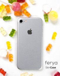 3mk Ferya ochranná fólie na záda pro Apple iPhone 8 matná stříbrná