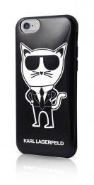Pouzdro Karl Lagerfeld (KLHCP6HTKCH) K-Team TPU Case pro Apple iPhone 6/6S Black