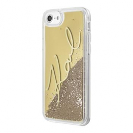 Pouzdro Karl Lagerfeld Signature TPU Gold pro Apple iPhone 7/8