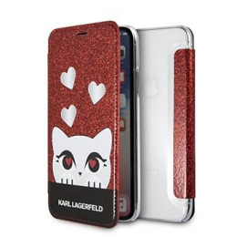 Pouzdro Karl Lagerfeld Valentines pro Apple iPhone X červené