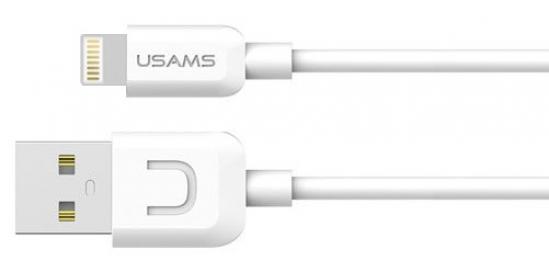 USAMS SJ097 datový kabel s konektorem Lightning bílý
