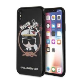 Pouzdro Karl Lagerfeld Sailor TPU pro Apple iPhone X Black