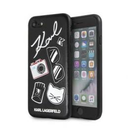 Pouzdro Karl Lagerfeld Pins Hard Case Black pro Apple iPhone 7/8