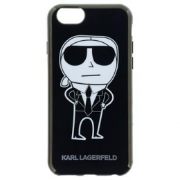 Pouzdro Karl Lagerfeld (KLHCP6HTKKA) K-Team TPU pro Apple iPhone 6/6S Black