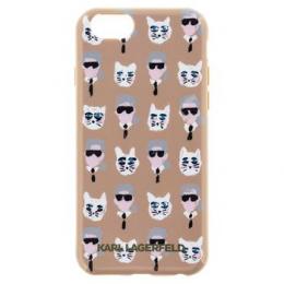 Pouzdro Karl Lagerfeld (KLHCP6KKPCA) The Artist TPU pro Apple iPhone 6/6S Gold