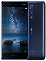 Nokia 8 Single SIM 64GB LTE Tempered Blue