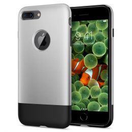 Pouzdro Spigen (055CS24412) Classic One pro Apple iPhone 7/8 Plus Aluminium Grey