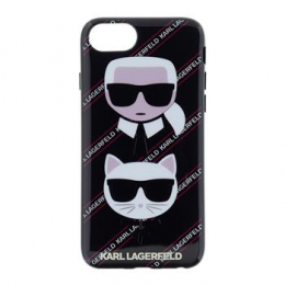 Pouzdro Karl Lagerfeld (KLHCI8CNVKC) Canvas TPU pro Apple iPhone 7/8 Black