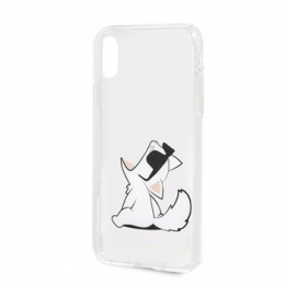 Pouzdro Karl Lagerfeld (KLHCPXCFNRC) Choupette Fun Choupette No Rope Hard Case pro Apple iPhone X/XS