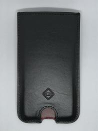 Pouzdro pro Apple iPhone X (černá Liscio kůže vršek, vínová Liscio kůže vnitřek)