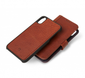 Pouzdro Decoded (D8IP065DW1CBN) Leather 2v1 Wallet pro Apple iPhone XS Max hnědé