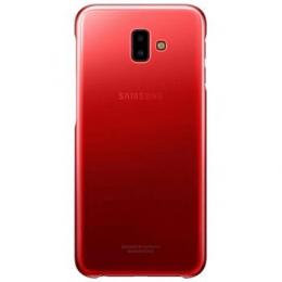 Pouzdro Samsung EF-AJ610CBE Gradation Clear pro Samsung J610F Galaxy J6+ Clear Red