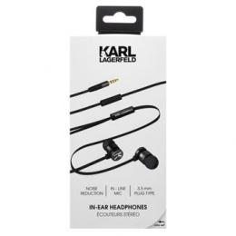 Sluchátka Karl Lagerfeld (KLEPWIBK) Wire Stereo Headset Black