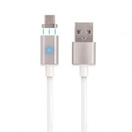 Forever Magnetický datový kabel TFO s MicroUSB bílý