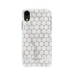 Pouzdro SoSeven (SSBKC0095) Milan Case Hexagonal Marble pro Apple iPhone Xr růžovo bílé