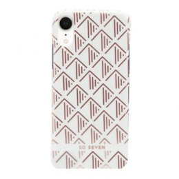 Pouzdro SoSeven (SSBKC0097) Fashion Paris Triangle pro Apple iPhone Xr bílo růžové