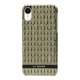 Pouzdro SoSeven (SSBKC0098) Fashion Paris pro Apple iPhone Xr černo zlat