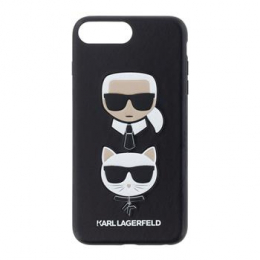 Pouzdro Karl Lagerfeld (KLHCI8LKICKC) Karl and Choupette Hard Case pro Apple iPhone 7/8 Plus