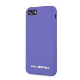 Pouzdro Karl Lagerfeld (KLHCI8SLVOG) Silicone Case Gold Logo pro Apple iPhone 7/8 fialové