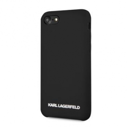 Pouzdro Karl Lagerfeld (KLHCI8SLBKS) Silicone Case Silver Logo pro Apple iPhone 7/8 černé