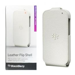 Pouzdro BlackBerry ACC-50707-302 Leather Flip Shell bílé