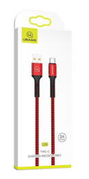 Datový kabel USAMS SJ289 Type-C s podporou až 5A červený