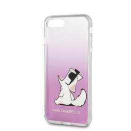 Pouzdro Karl Lagerfeld (KLHCI8CFNRCPI) Fun Choupette Glasses Hard Case pro Apple iPhone 7/8