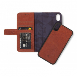 Pouzdro Decoded (D8IPO61DW1CBN) Leather 2v1 Wallet pro Apple iPhone Xr hnědé