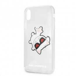 Pouzdro Karl Lagerfeld (KLHCI61CFHE) Fun Eaten Hard Case pro Apple iPhone Xr
