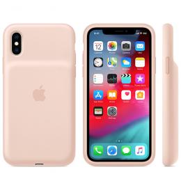 Pouzdro Apple iPhone XS Smart Battery Case - MVQP2ZM/A růžové