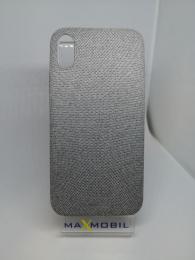 Pouzdro Textile pro Apple iPhone X/Xs šedé
