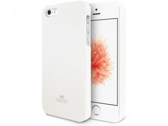 Pouzdro Mercury Jelly Case pro Apple iPhone 5/5S/SE bílé