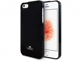 Pouzdro Mercury Jelly Case pro Apple iPhone 5/5S/SE černé