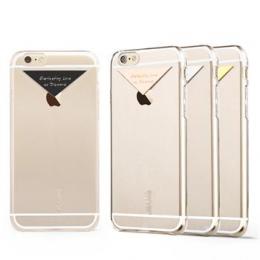 USAMS Dazzle Zadní Kryt Transparent Gold pro iPhone 6/6S