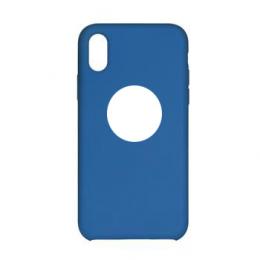Pouzdro Swissten Liquid (s výřezem na logo) pro Apple iPhone X modré