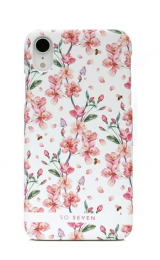 Pouzdro SoSeven (SSBKC0093) Tokyo Cherry Blossom Flowers pro Apple iPhone XR bílé