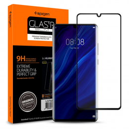 Spigen Tvrzené sklo 3D GLAS.tR SLIM (L37GL25745) pro Huawei P30 Pro Black