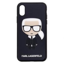 Pouzdro Karl Lagerfeld (KLHCPXDLFKBK) Iconic Body Glitter pro Apple iPhone X/Xs černé