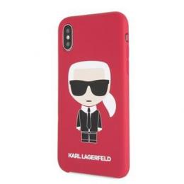 Pouzdro Karl Lagerfeld (KLHCPXSLFKRE) Iconic Bull Body pro Apple iPhone X/Xs červené