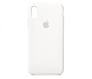 Pouzdro Apple Silicone Case pro Apple iPhone Xs MAX - MRWF2ZM/A White