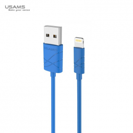 Datový kabel USAMS SJ038 U-Gee s konektorem lightning modrý