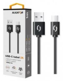 Nabíjecí a datový kabel Aligator (DAKA005) s USB-C konektorem 1m černý