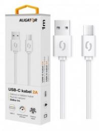 Nabíjecí a datový kabel Aligator (DAKA006) s USB-C konektorem 1m bílý