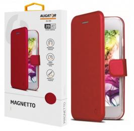 Pouzdro Aligator Magnetto pro Huawei Nova 3 červené