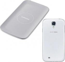Bezdrátová nabíječka Samsung EP-WI950EW + kryt pro Samsung Galaxy S4 šedý